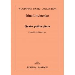 Irina Litvinenko: Quatre petites pièces pour ensemble des flûtes à bec