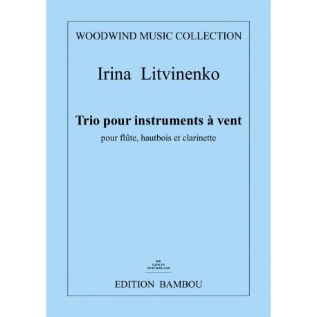 Irina Litivinenko Trio pour instruments à vent Edition Bambou Musique